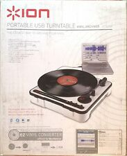 ION Auido Portable USB Turntable w/ Software & Built-In Speaker... NEW!