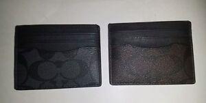 NWT Men's Coach Flat Card Case Leather CHOOSE COLOR F58110