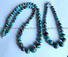 Beautiful! 6-14mm multicolor Turkey Turquoise Beads Necklace 18'' Bracelet 7.5''