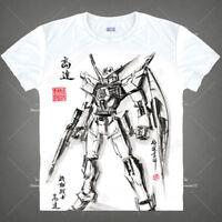 Japanese Anime GUNDAM T-shirt Short Sleeve unisex Casual TEE Ink Print#925