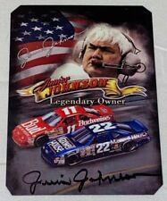 Junior Johnson autpgraphed LEGENDARY OWNER NASCAR CHAMP HALL OF FAMER photo card