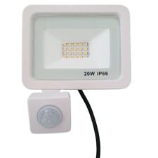 Projecteur LED Extérieur 20W IP66 BLANC avec Détecteur de Mouvement Crépusculair