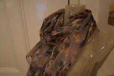 Dolce Gabbana grigio floreale & Sciarpa Di Seta