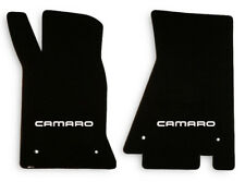 NEW! 1982-1992 Camaro Floor Mats Black Set of 2 Carpet Embroidered Script Fronts
