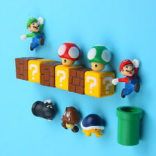 Hot 3D Super mario Fridge Magnet Sticker Refrigerator Decoration 10 pcs