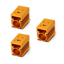 3pcs Golden Aluminium Cooling Heat Sink for 12mm Laser Diode Modules 20x27x32mm