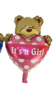 Pink Foil Balloon - It's a Girl Teddy Bear for Baby Party
