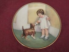 The Reward collector plate Bessie Pease Gutmann Child's Best Friend Hamilton Dog