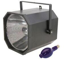 QTX Light UV Cannon Blacklight Ultra Violet DJ Disco Lighting Effect & 400W Bulb