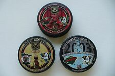 MINNESOTA WILD STANLEY CUP PLAYOFF PUCKS* 2003 / LOT OF (3)