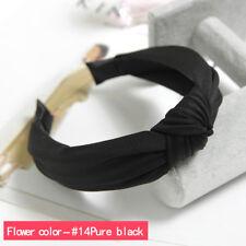Women Girls Turban Twist Bow Knot Hairband Headband Cross Hair Band Hoop Wrap