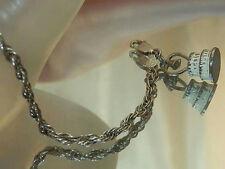 Vintage 50's 7.3 Grams Sterling Silver Wedding Charm Bracelet see text  174J6