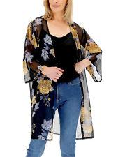 JD Williams kimono jacket plus size 16 18 26 black floral cover up longline