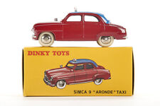 Lot 180907 Dinky Toys 24 UT Simca 9 Aronde Taxi, weinrot, 1:43, Druckguss, OVP