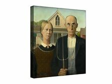 American Gothic by Grant Wood - Quality canvas wall art, ready to hang