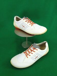 ECCO Biom Yak EU 43 US 9.5-10 white Leather soft Spike Golf Shoes