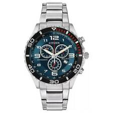 Citizen Men's Brycen AT2121-50L 43mm Blue Dial Stainless Steel Watch