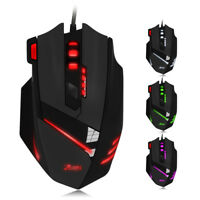 ZELOTES T-60 7200DPI Professional USB Wired Optical 7 Buttons Gaming Mouse Set
