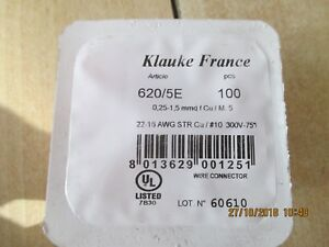 100 cosse fil 0,25-1,5mm ,klauke m 5