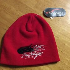 BOYD CODDINGTON HOT ROD FLAMES RED BEANIE SKI HAT BNWT WHEELS DESIGNER