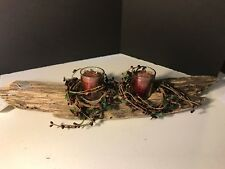 Rustic Driftwood Candle Holder Handmade