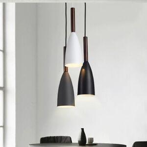 Modern Minimalist  Pendant Lights Bar Cafe Restaurant Decor Wood Aluminum Light.