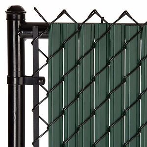 Chain Link Green SoliTube™ Max-Privacy Slat For 8-ft Fence Bottom Lock