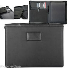 Manchester Handsome Black Slim Zippered Sturdy Portfolio with iPad/Air Case -New