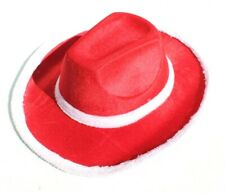 Red White SEXY Christmas Holidays Cowboy Western Hat
