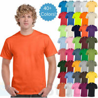 Gildan Mens Plain T Shirts Solid Cotton Short Sleeve Blank Tee Top S-4XL G500