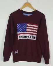 VTG Retro 80S Oversized hell Crazy USA Sweatshirt Sweater Pullover USA Sport