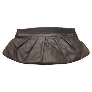 Fossil Grayge Pleated Distressed Softshell Genuine Leather Flex Frame Clutch