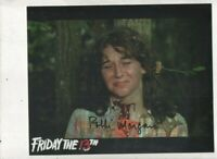 hand Signed 10x8 Photograph - ROBBI MORGAN - FRIDAY THE 13TH    AFTAL - COA