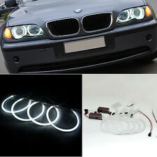 4x For BMW 3 Series E46 CCFL Angel Eyes Halo Light Ring Bulb White Non-Projector