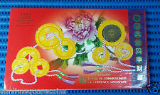 1997 Singapore Mint's Uncirculated Coin Set HongBao Pack Lunar Ox (1¢ - $5 Coin)