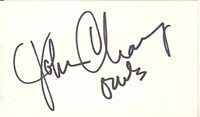 John Chaney Autographed / Signed 3x5 Cut