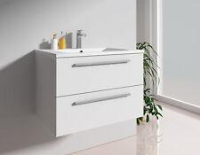 Badmöbel-Set Unterschrank Waschtisch Gäste-WC 60 cm 70 cm 90 cm schwarz weiß