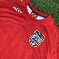 XXL 2006 Red England Away Shirt - VTG Retro Top -Scholes Gerrard Lampard Beckham
