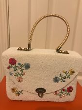 Midas Of Miami Vintage Purse Beaded and Crocheted On Basket Weave