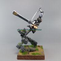 75mm Female Warrior Figure Model Unpainted  Samurai Garage Kits Unassembled 1/24