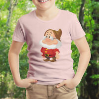 Snow White Seven Dwarfs Doc Disney Kids Boys Youth Unisex Crew Neck Tee T-Shirt