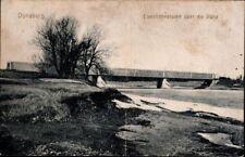 Postcard Latvia Colour Printing Dünaburg Daugavpils Railway Bridge Düna 1918