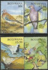 BOTSWANA 2005 CHRISTMAS - BIRDS PIGEONS AND DOVES Sc#810-3 COMPLETE MNH SET 1468