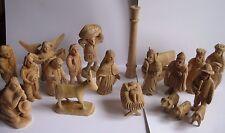 KRIPPENFIGUREN Holz geschnitzt 20-teilig 14 cm Holzfiguren Weihnachten Krippe