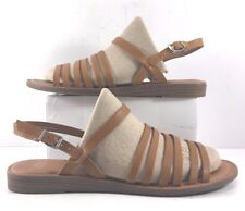 Franco Sarto Mismatched Tan Leather Gabrina Sandals Womens Size US 7.5 / 8.5M