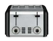 Cuisinart Cpt-340 Compact Stainless 4-Slice Toaster, Brushed Stainless , New, Fr