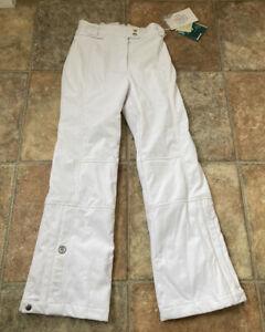 POIVRE BLANC - SKI PANTS TROUSERS WHITE KIDS - GIRLS - 11-12 NEW SOILED