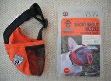 New Canine Friendly Short Snout Dog Muzzle Medium Breathable Mesh For Pet Rescue