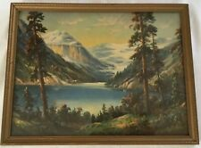 Vintage Framed 20's Lake Louise by William W M Thompson Lithograph Print 17 x 13