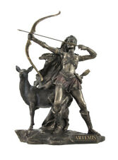 Bronzed Artemis Goddess of Hunting and Wilderness Statue